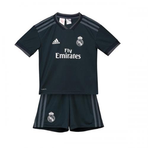 timeless design 3c58c 00f90 18-19 Real Madrid Away Dark Navy Children's Jersey Kit(Shirt+Short)