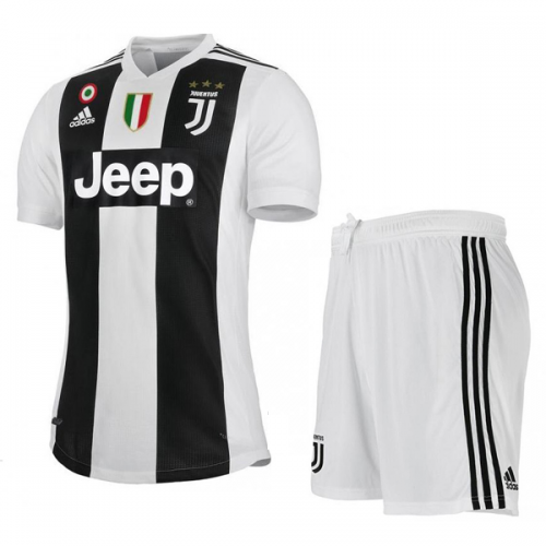 check out 92b35 40e83 18-19 Juventus Home Soccer Jersey Kit(Shirt+Short)