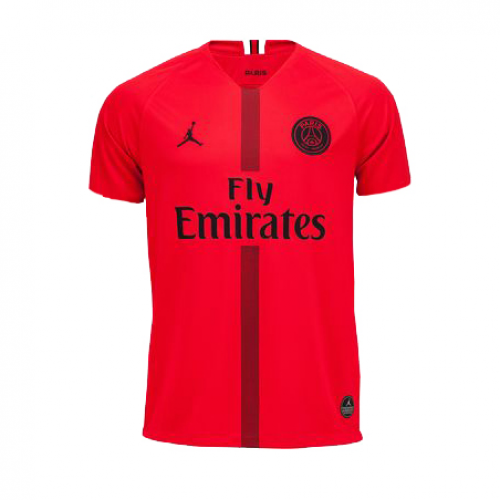 on sale 47908 a16f1 18-19 PSG JORDAN Goalkeeper Red Soccer Jersey Shirt