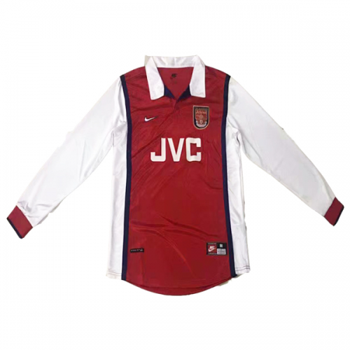 cheaper 4cd6d 4a932 98-99 Arsenal Home Red&White Long Sleeve Retro Jersey Shirt