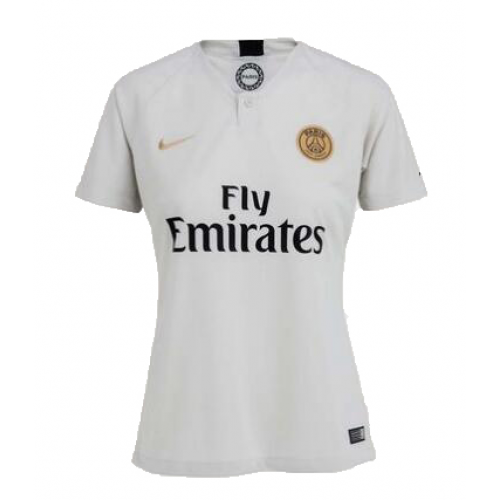 low priced eb875 72f6d 18-19 PSG Away White Women's Soccer Jersey Shirt