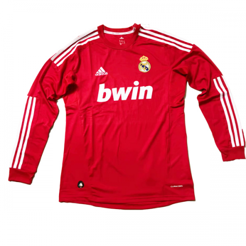 best website 761e5 dcce1 11-12 Real Madrid Third Away Red Long Sleeve Retro Jersey Shirt