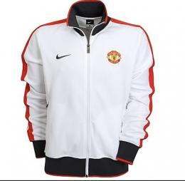10-11 Manchester United White N98 Jacket  a201f6bfe