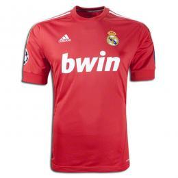 11 12 Real Madrid Third Away Red Soccer Jersey Shirt Replica  2b0eb0513