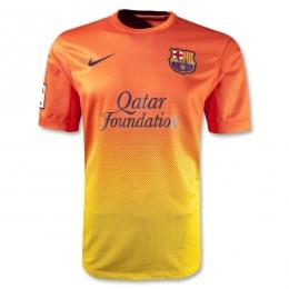 cheap for discount 36cf0 b245b 12/13 Barcelona Orange Away Soccer Jersey Shirt Replica