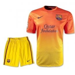huge selection of 4d316 bfd43 12/13 Barcelona Orange Away Soccer Jersey Kit (Shirt+Short)