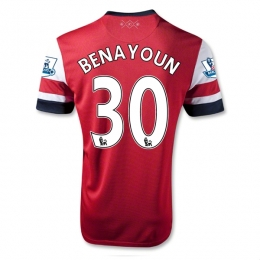 1890a677b 12/13 Arsenal #30 Benayoun Home Red Soccer Jersey Shirt Replica ...