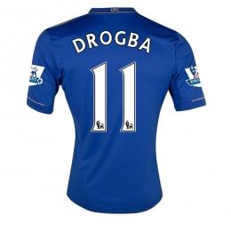 883a1b89072 12/13 Chelsea #11 Drogba Blue Home Soccer Jersey Shirt Replica ...