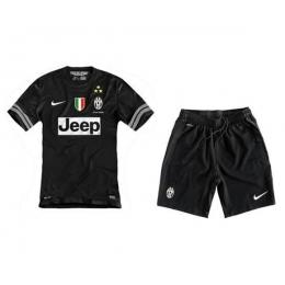 ee9586ad9 12 13 Juventus Replica Away Black Soccer Jersey Kit(Shirt+Short ...