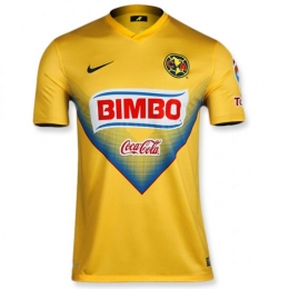 low priced 7a147 72b72 13/14 Club America Aguilas Home Yellow Soccer Jersey Shirt Replica