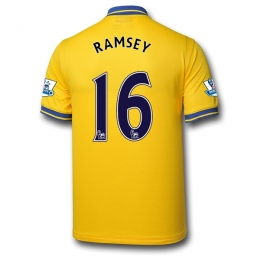 98b20ff1c 13-14 Arsenal  16 RAMSEY Away Yellow Jersey Shirt