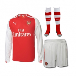 000f46225 14-15 Arsenal Home Long Sleeve Soccer Jersey Whole Kit(Shirt+Short+Socks)