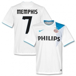 03f2ae7c348 14-15 PSV Eindhoven Memphis  7 Away White Jersey Shirt