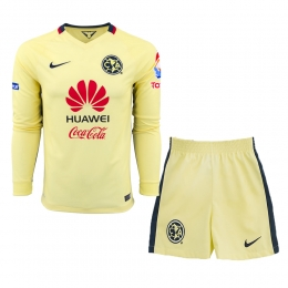 627eee1b7 15-16 Club America Home Long Sleeve Soccer Jersey Kit(Shirt+Short ...