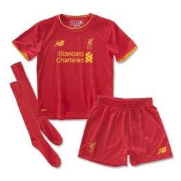 ac6c452a59c 16-17 Liverpool Home Children s Jersey Whole Kit(Shirt+Short+Socks ...