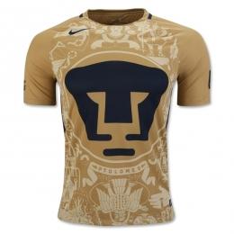 7a930cce7 16-17 UNAM Pumas Home Golden Jersey Shirt | Pumas UNAM Jersey Shirt ...
