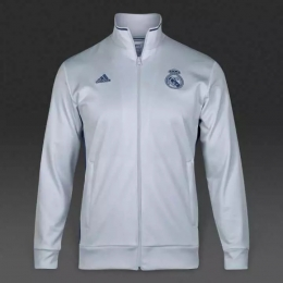 half off a15c6 a59d7 16-17 Real Madrid White Training Jacket