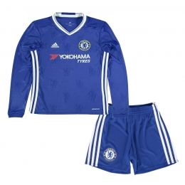 hot sales f8ddb dabb2 16-17 Chelsea Home Long Sleeve Children's Jersey Kit(Shirt+Short)