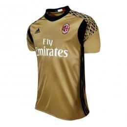 cb459d5ac 16-17 AC Milan Goalkeeper Golden Soccer Jersey Shirt | AC Milan ...