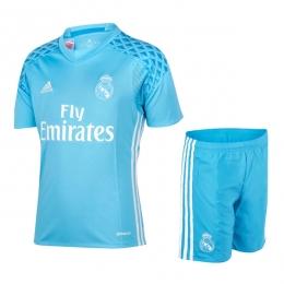 release date: 6c1cc 525f4 16-17 Real Madrid Goalkeeper Blue Jersey Kit(Shirt+Short)