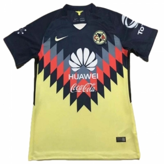 los angeles 37d87 ee36e 17-18 Club America Home Yellow Soccer Jersey Shirt