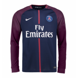 21cdbf05022 17-18 PSG Home Long Sleeve Soccer Jersey Shirt