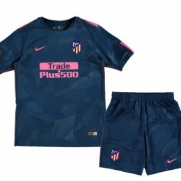 22182ec656c 17-18 Atletico Madrid Third Away Green Children's Jersey Kit(Shirt+Short)