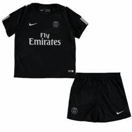 huge discount c2be1 5ce73 17-18 PSG Third Away Black Children's Jersey Kit(Shirt+Shorts)