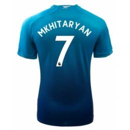 fbf84b176 17-18 Arsenal Away Blue Soccer  7 MKHITARYAN Jersey Shirt