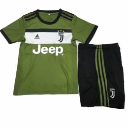 2b7fa03b4 17-18 Juventus Third Away Green Children's Jersey Kit(Shirt+Shorts ...