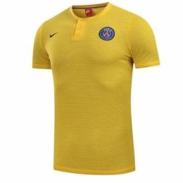 17-18 PSG Grand Slam Polo Shirt-Yellow  dafddff9e