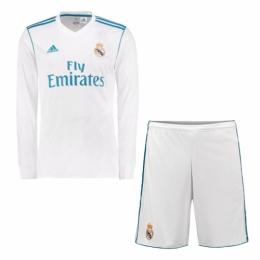 903ac651c 17-18 Real Madrid Home Long Sleeve Soccer Jersey Kit(Shirt+Short ...