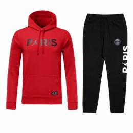 76871ffd8 18-19 PSG JORDAN 3rd Away Red Hoody Sweat Kit(Top+Trouser)