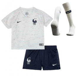 19c94b83e 2018 World Cup France Away Shirt Two Stars Children s Jersey Kit (Shirt+Short+