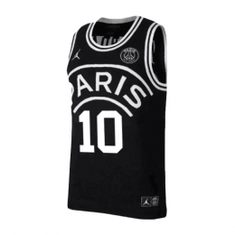 finest selection 29021 3b6c4 PSG×JORDAN Neymar Jr #10 Black Basketball Jersey Shirt