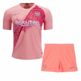 e789f8a89 ... 18-19 Barcelona Third Away Pink Soccer Jersey Kit(Shirt+Short)
