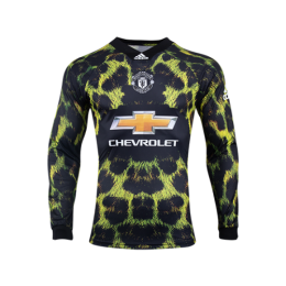 ec8459f10 18-19 Manchester United EA Sports Green Long Sleeve Jerseys Shirt
