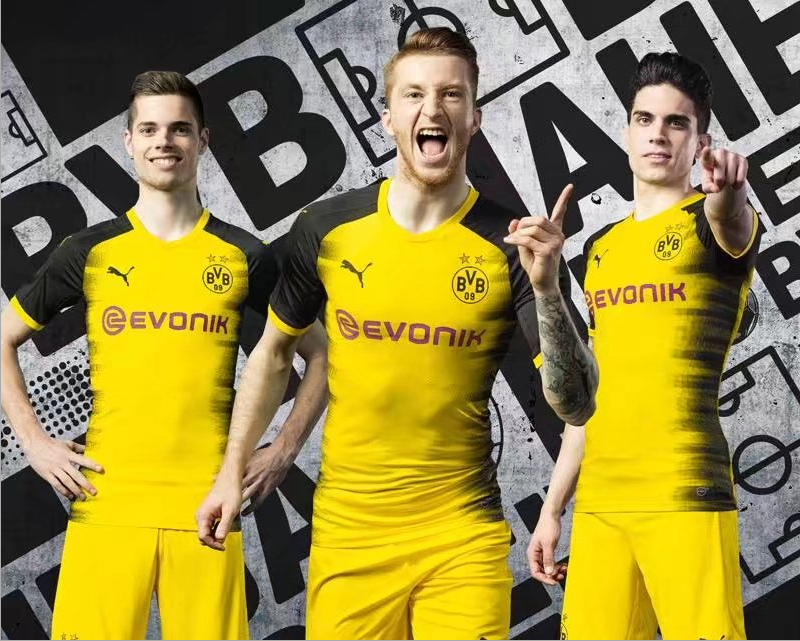 0cdd042492f 17-18 Borussia Dortmund Champion League Home Soccer Jersey Shirt ...