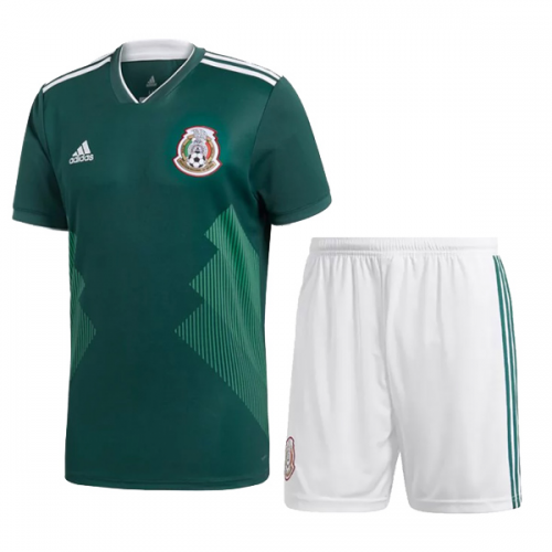 2018 World Cup Mexico Home Jersey Kit(Shirt+Short)  e3f74cfd54ac