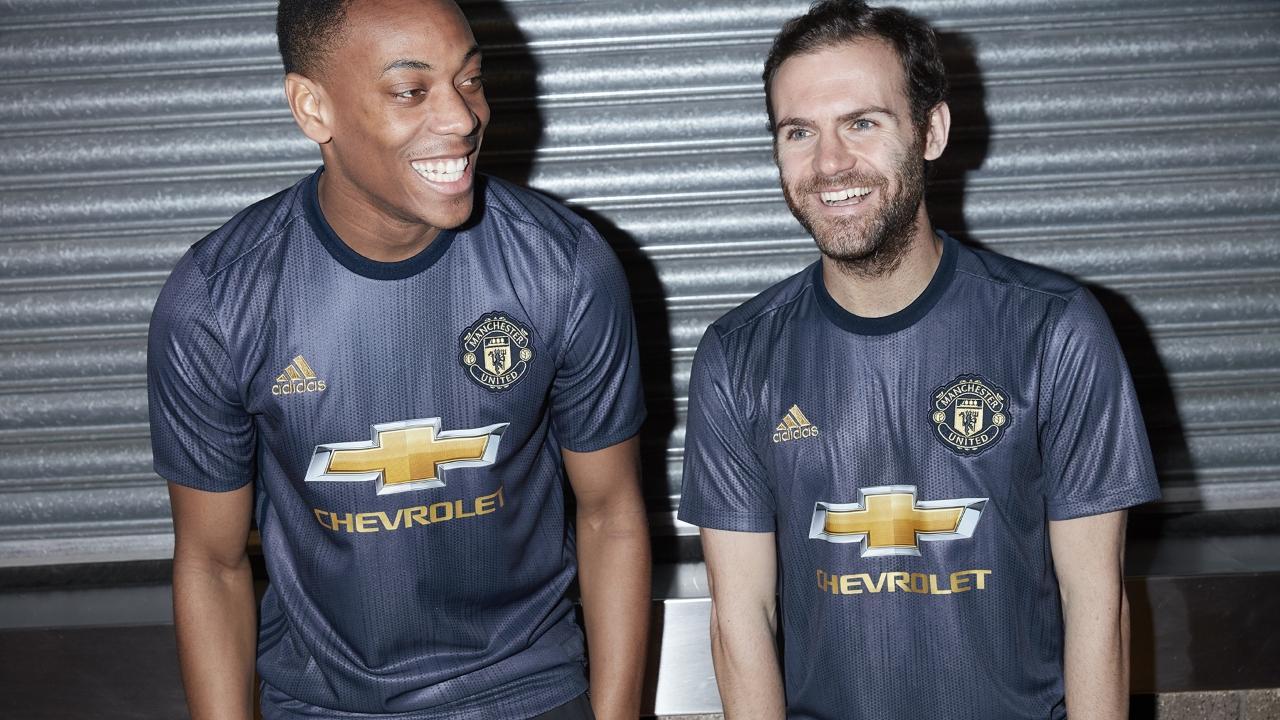 17812bafe 18-19 Manchester United Third Away Navy Jersey Kit(Shirt+Short ...