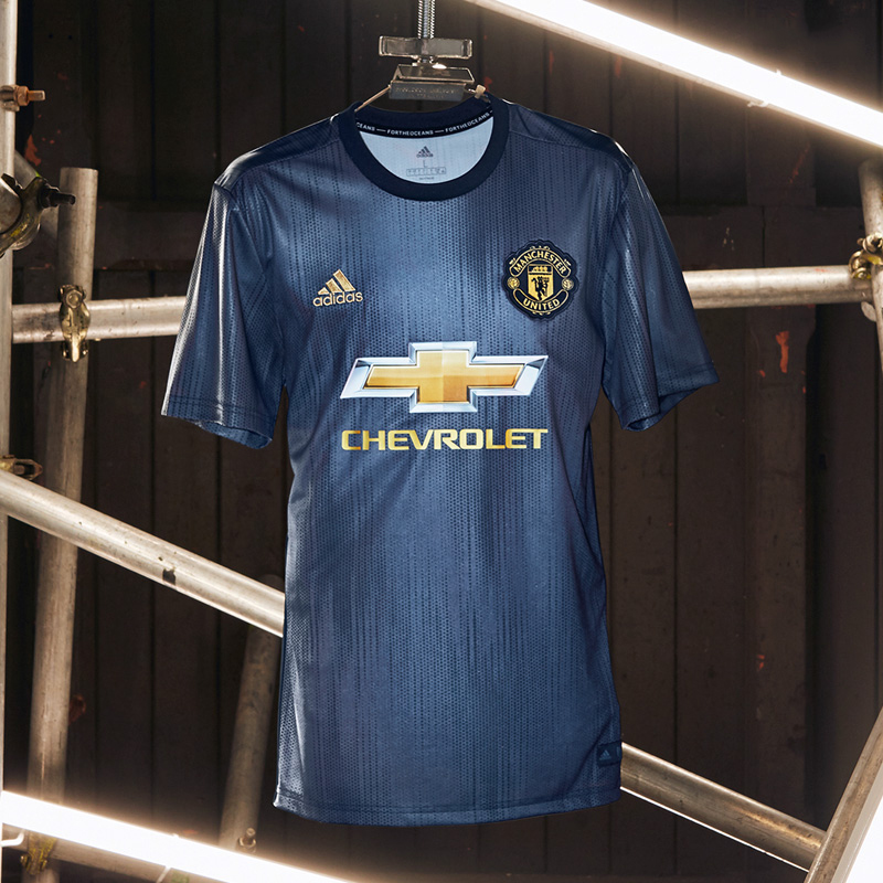 18-19 Manchester United Third Away Navy Jersey Shirt(Player Version ... fbd1f045d