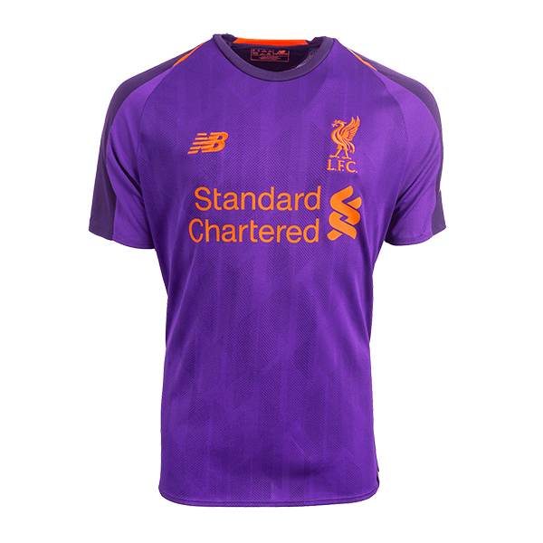 100% authentic d0d6f 2a2a9 18-19 Liverpool Away Purple Soccer Jersey Shirt