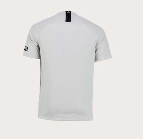 new concept bbf3a e6fe3 18-19 PSG Away Light Gold Soccer Jersey Whole Kit(Shirt+Short+Socks)