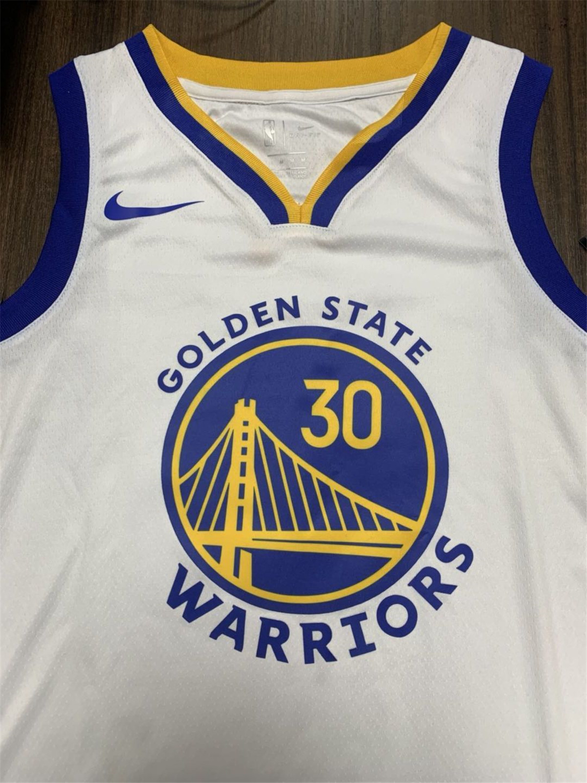 Swingman Stephen Curry #30 Golden State Warriors Jersey 2019/20 By Nike White