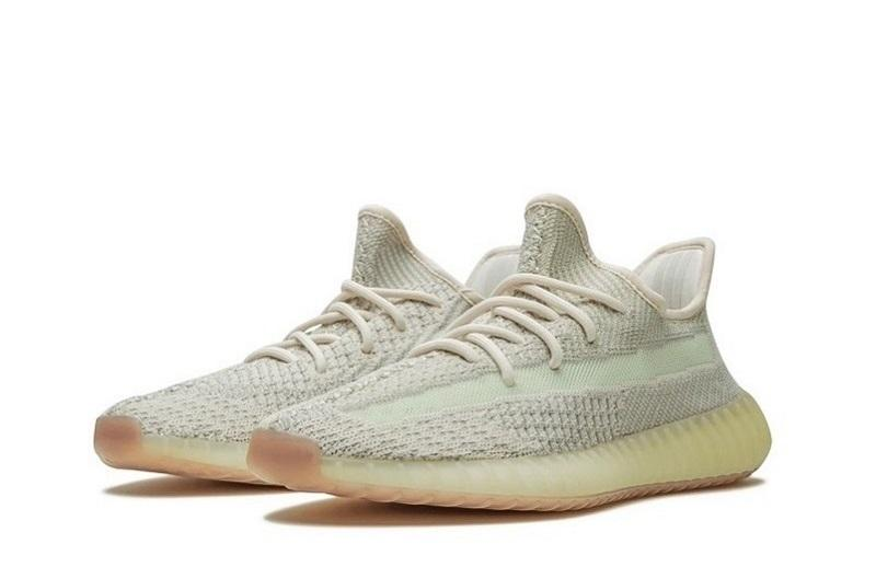Adidas Yeezy 350 V2 'Citrin Non Reflective' Cleat-Gray&Light Green