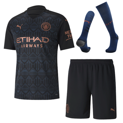 Manchester City Away Full Kit 2020/21 By Puma