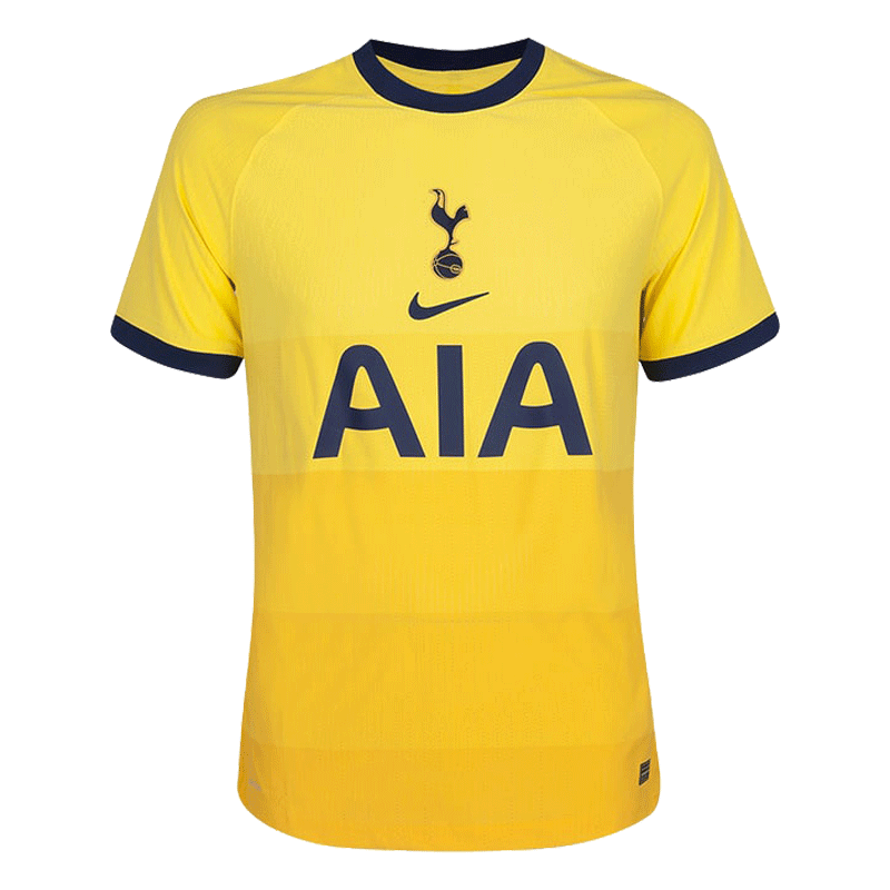20/21 Tottenham Hotspur Third Away Authentic Jersey Yellow Soccer Jerseys Shirt