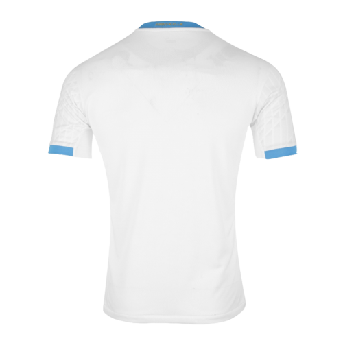 20/21 Marseille Home Kit White Soccer Jerseys Kit(Shirt+Short)