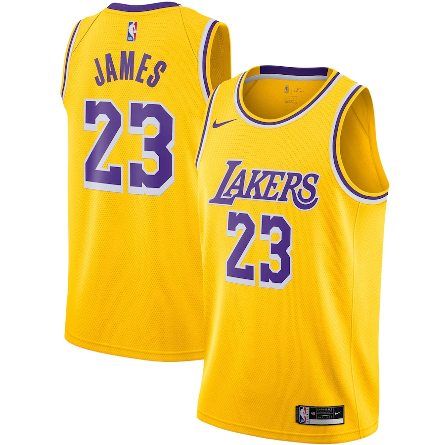 Swingman LeBron James #23 Los Angeles Lakers Jersey 2020/21 By Nike Gold