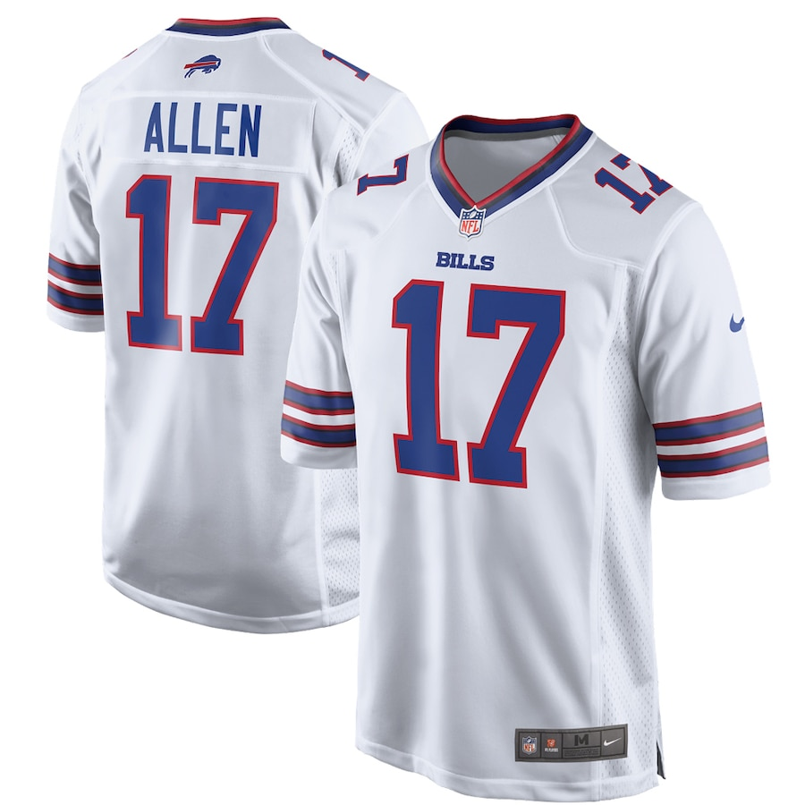 Josh Allen #17 Buffalo Bills Game Jersey - White